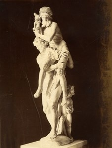 Italy Rome Sculpture Aeneas Anchises Ascanius Bernini Old Photo Alinari 1880