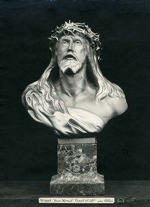 France Paris Art Deco Cadran Workshop Pellier Ecce Homo Christ Old Photo 1930