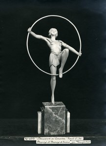 France Paris Art Deco Cadran Workshop Maupertuis Hoop Dancer Old Photo 1930