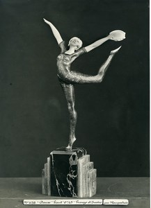 France Paris Art Deco Cadran Workshop Maupertuis Dance Bronze Old Photo 1930