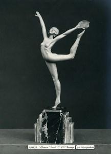 France Paris Art Deco Atelier Cadran création de Maupertuis Danse Bronze Ancienne Photo 1930