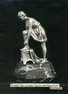 France Paris Art Deco Atelier Cadran création de Samson La Sandale Ancienne Photo 1930