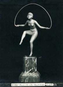 France Paris Art Deco Atelier Cadran création de Gallo Danse a la Corde Ancienne Photo 1930