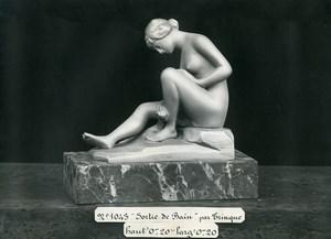 France Paris Art Deco Atelier Cadran création de Trinque Sortie de Bain Ancienne Photo 1930