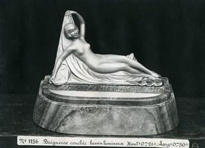 France Paris Art Deco Atelier Cadran création Anonyme Baigneuse Couchee Ancienne Photo 1930