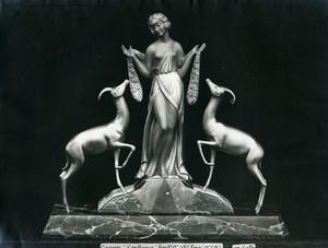 France Paris Art Deco Atelier Cadran création de Gallo Groupe Confiance Ancienne Photo 1930