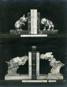 France Paris Art Deco Cadran Workshop Irenée Rochard Bookends Old Photo 1930