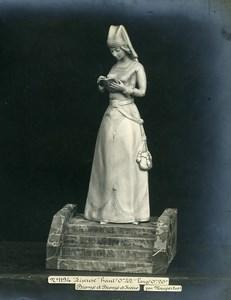 France Paris Art Deco Atelier Cadran création de Maupertuis Liseuse Bronze Ancienne Photo 1930