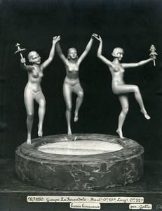 France Paris Art Deco Atelier Cadran création de Gallo La Farandole Ancienne Photo 1930
