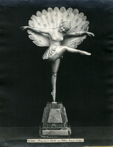 France Paris Art Deco Atelier Cadran création de Pellier Danseuse Etoile Ancienne Photo 1930