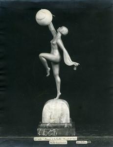 France Paris Art Deco Atelier Cadran création de Pellier Danse a la Bulle Ancienne Photo 1930