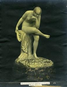 France Paris Art Deco Atelier Cadran création de Gallo Baigneuse Ancienne Photo 1930