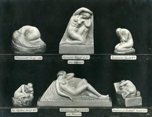 France Paris Art Deco Atelier Cadran création de Trinque Femmes Emotions Ancienne Photo 1930