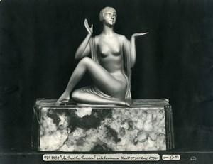 France Paris Art Deco Atelier Cadran création de Gallo Boudha Parisien Ancienne Photo 1930