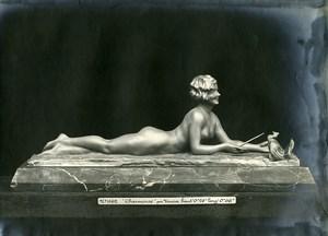 France Paris Art Deco Atelier Cadran création de Varnier Charmeuse Ancienne Photo 1930