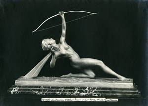 France Paris Art Deco Atelier Cadran création de Varnier La Derniere Fleche Ancienne Photo 1930