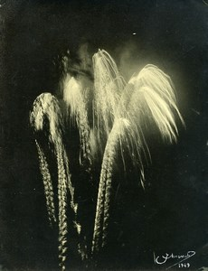 Portugal Guimaraes Photographic Study Fireworks Old Photo Azevedo 1949