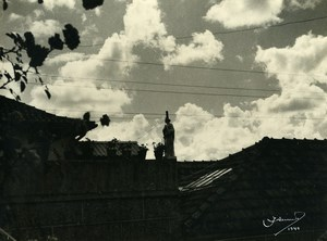 Portugal Guimaraes Photographic Study the Roofs Old Photo Azevedo 1949