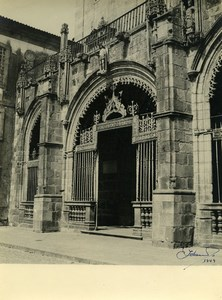 Portugal Sé de Braga Cathedral Study Main Portal Galilee Old Photo Azevedo 1949