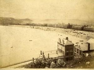 United Kingdom Wales Llandudno beach Panorama Old Photo Bedford 1875