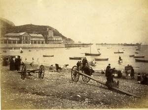 United Kingdom Wales Llandudno Beach & Pier Old Photo Bedford 1875