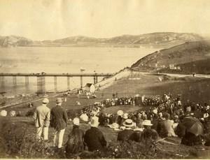 United Kingdom Wales Llandudno Happy Valley Crowd Old Photo Bedford 1875