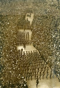 France Paris Concorde Place Military Parade Old Photo 14 July 1939
