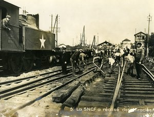France Brest Catastrophe Explosion Port Reconstruction Railway Old Photo 1947