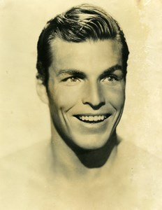 USA American Film Actor Buster Crabbe Smiling Cinema Old Photo 1930