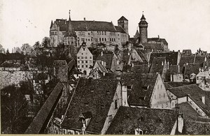 Germany Nurnberg Panorama Die Burg Old Cabinet Photo Rommler 1890