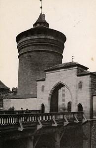 Germany Nurnberg Royal Tower Königstor Old Cabinet Photo Rommler 1890