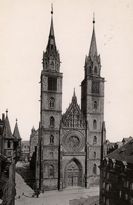 Germany Nurnberg Church St Lorenzkirche Old Cabinte Photo Rommler 1890