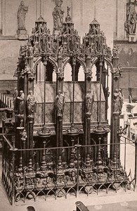 Germany Nurnberg St Sebalduskirche Church Old Cabinet Photo Rommler 1890