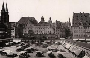 Germany Nurnberg Market Place Der Markt Old Cabinet Photo Rommler 1890