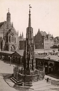 Germany Nurnberg Schöner Brunnen Fountain Old Cabinet Photo Rommler 1890