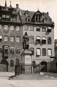 Germany Nurnberg Albrecht Durer Statue Monument Old Cabinet Photo Rommler 1890