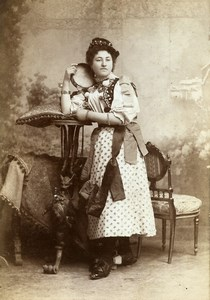 France Niort Portrait Woman Marie Hennequin Old Cabinet Photo Duburguet 1890