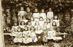 France Vendee Foussais Children Group Old Cabinet Photo Cosset Chabot 1908
