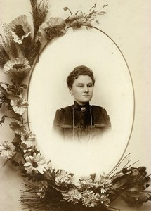 France Lille Portrait Woman Old Cabinet Photo Leroy 1880