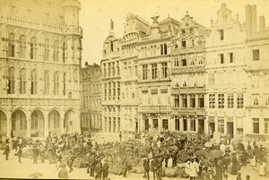 Belgium Brussels Corporate Houses Grand-Place Old LP Photo 1880