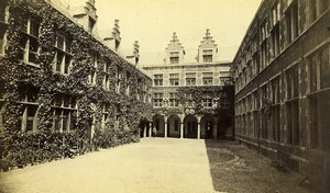Belgium Antwerp Museum Plantin Courtyard Old Photo 1880