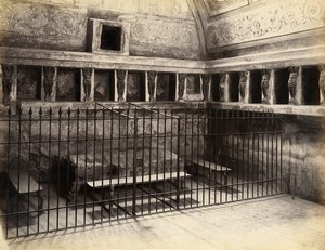Italy Pompeii Bagni Nuovi Baths Old Albumen Photo Sommer 1880