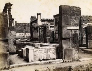 Italy Pompeii House of Sallust Casa di Sallustio Old Albumen Photo Sommer 1880