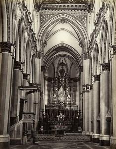 Italy Naples Napoli Chiesa San Domenico Maggiore Old Albumen Photo Sommer 1880