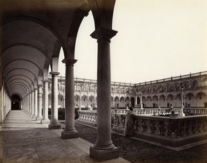 Italy Naples Napoli Atrio San Martino Atrium Old Albumen Photo Sommer 1880