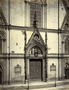 Italy Naples Cathedral Napoli Duomo door Old Albumen Photo Sommer 1880