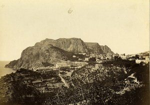 Italy Naples Napoli Capri Panorama Old Albumen Photo Achille Mauri 1870