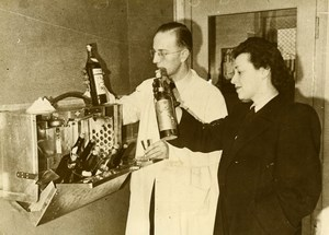 Denmark Copenhagen Liquor Cabinet for Airplane Aviation Old Photo 1948