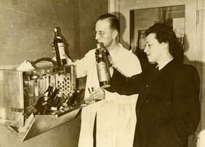 Denmark Copenhagen Liquor Cabinet for Airplane Aviation Old Photo 1948