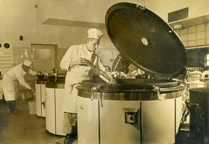 Germany WWII French Workers' canteen Kitchen STO Old Photo 1942